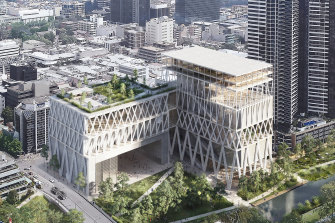 The state government is refining the design of the Powerhouse Museum earmarked for the banks of the Parramatta River.