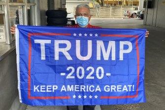Trump supporter Pedro Villalonga in Miami.