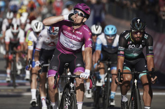 Frrenchman Arnaud Demare has starred in the sprint stages in the first week of the Giro.
