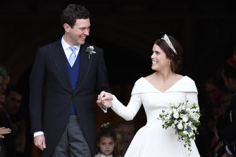 Princess Eugenie and Jack Brooksbank, pictured at their wedding in 2018.