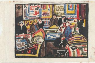 "Dorrit Black's 'The wool quilt makers"" (1940 or 1941)"