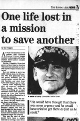 <i>The Sunday Age</i> reports on the death of Trevor Given on December 23, 1990.