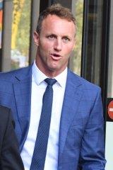 Former St George Illawarra player Mark Gasnier attended proceedings on Monday.