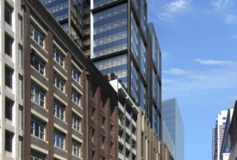 Investa Office's $110 million office tower at 151 Clarence Street, known as Barrack Place.