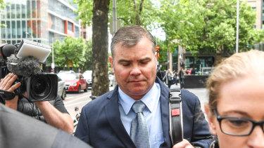 David Jenkin leaves court on Thursday.