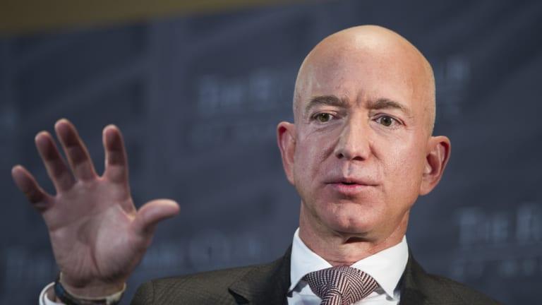 Amazon chief Jeff Bezos has had better days.