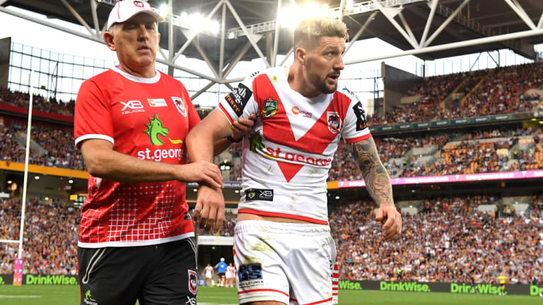 Gareth Widdop dislocated his shoulder again in another huge blow to St George.