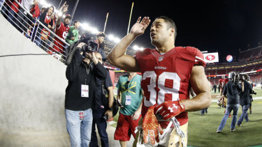 Falling short: Jarryd Hayne showed promised in the NFL but ultimately returned to rugby league.