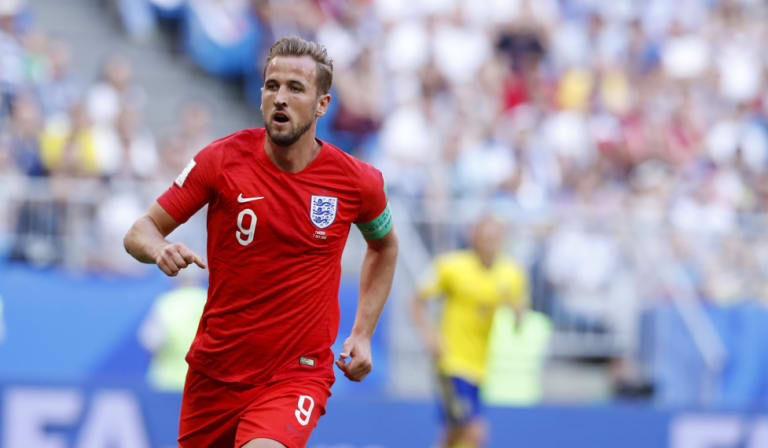 A clean cup: Golden boot contender Harry Kane of England.
