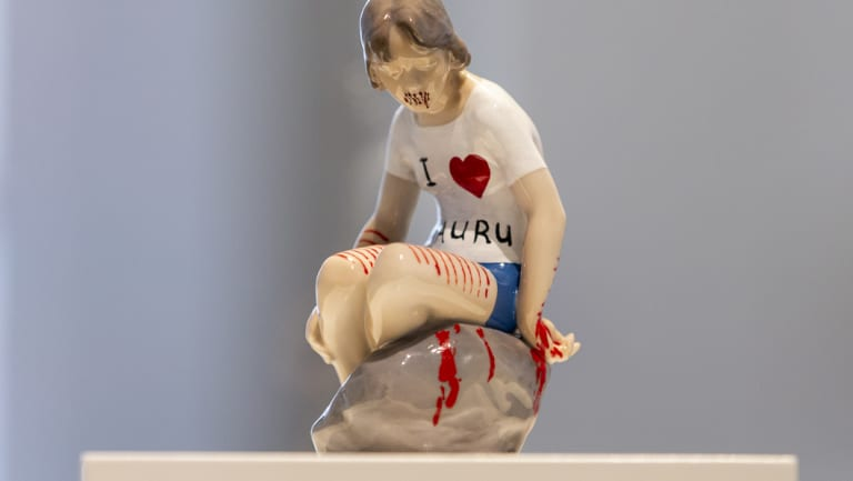I Heart Nauru, Melbourne artist Penny Byrne's contribution to the All We Can't See Exhibition.
