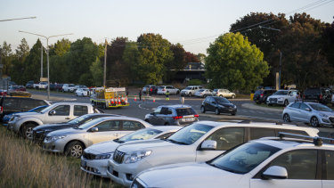 Some visitors to The Forage in Fyshwick on Saturday complained about being stuck in traffic for more than an hour.