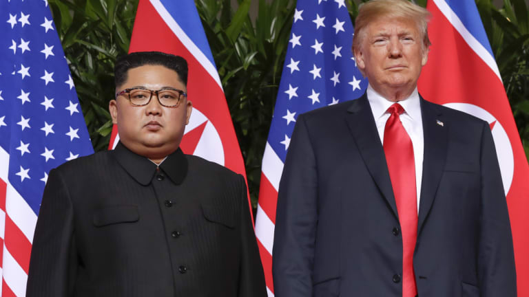 "One body language expert said Trump was in control from start to finish and described Kim as ""nervous""."