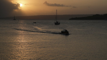 Sunset in Port villa, Vanuatu. The country has only recorded three COVID-19 cases since January 2020.