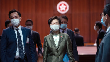 Hong Kong chief executive Carrie Lam vows to restore the city's international reputation