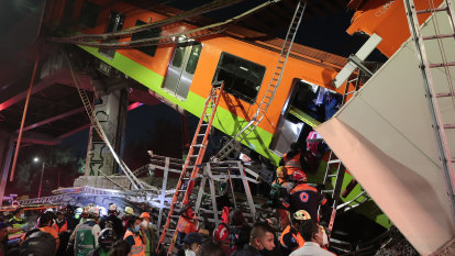 Multiple deaths after Mexico City rail overpass collapses