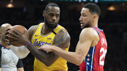 LeBron takes third on NBA's top scorers list but Simmons dominates as 76ers top Lakers