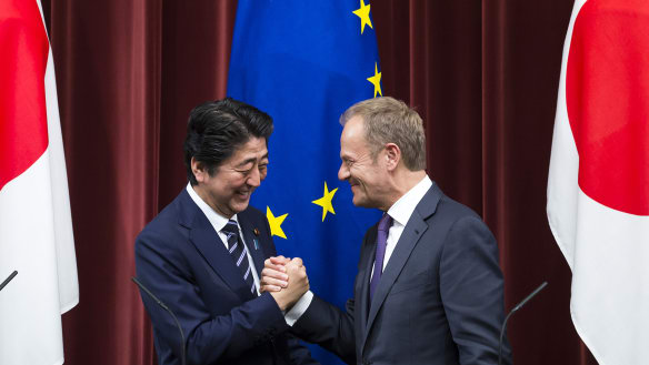 'Together against protectionism': Japan and EU eliminate tariffs