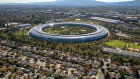 The Apple Park campus in Cupertino, California, houses 9000 workers.