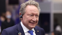 Andrew Forrest is back from his latest green energy quest.