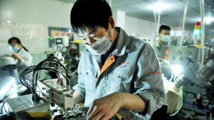 Chinese factories are restarting production as the country emerges from its coronavirus shutdown.