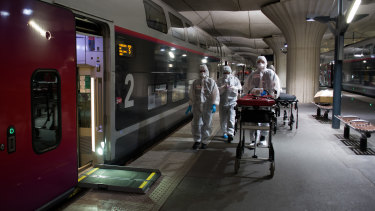 In France, high-speed trains have been converted to ICUs.