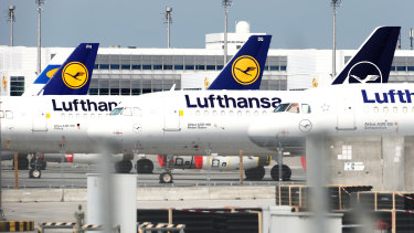 Lufthansa has grounded about 90 per cent of its planes.