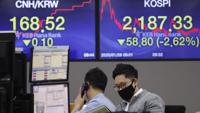 Stocks dive on virus fears and downgrades