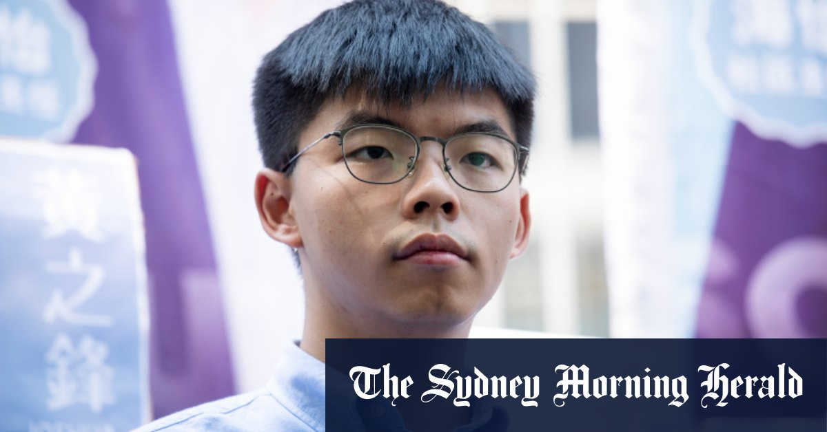 Hong Kong activist Joshua Wong arrested – Sydney Morning Herald
