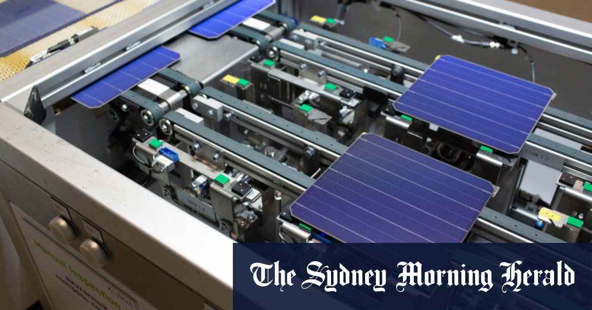 Aussie tech gurus driving local low-cost solar panel breakthrough – Sydney Morning Herald