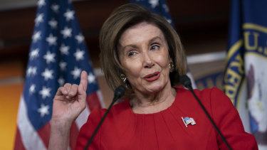 Strong words for Donald Trump: Speaker of the House Nancy Pelosi.