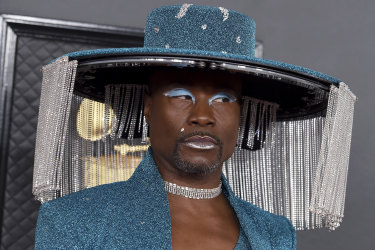 Billy Porter arrives at the 62nd annual Grammy Awards at the Staples Center on Sunday, Jan. 26, 2020, in Los Angeles. (Photo by Jordan Strauss/Invision/AP)