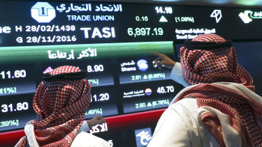 Two or three per cent of the company will be listed on the Saudi stock exchange, the Tadawul, apparently with pricing that would value the entire company between about $US1.6 trillion and $US1.8 trillion.