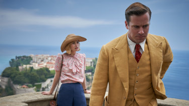Lily James and Armie Hammer in Rebecca.