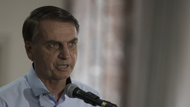 Brazil's president-elect Jair Bolsonaro.
