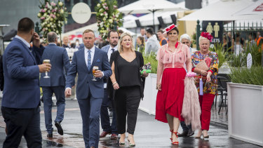 Stepping out in style at the Caulfield Cup.