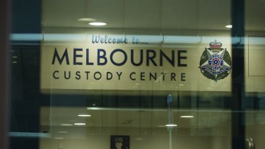 The Melbourne Custody Centre on Lonsdale Street, below the Melbourne Magistrates' Court.