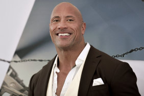 Dwayne Johnson at Fast & Furious Presents: Hobbs & Shaw in Los Angeles.