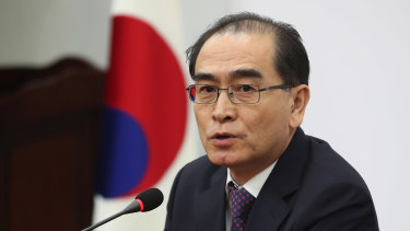 Thae Yong-ho, a former minister at the North Korean Embassy in London, defected to South Korea in 2016.