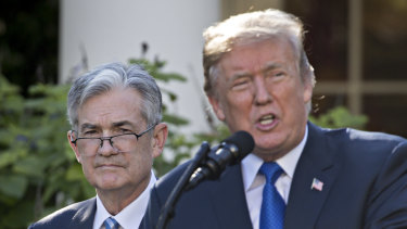 The President continues to put pressure on Powell and the Fed.