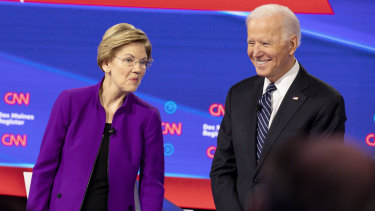 Contenders Elizabeth Warren and Joe Biden are up against a resurgent Bernie Sanders for the Democratic presidential nomination.