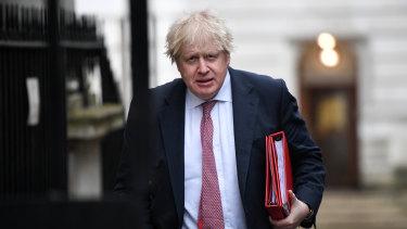 British Foreign Secretary Boris Johnson in London.