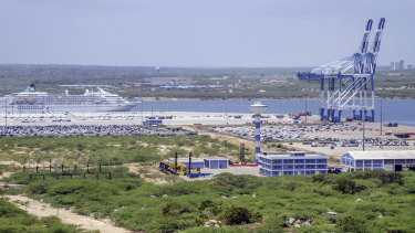 The controversial Hambantota Port in Sri Lanka.