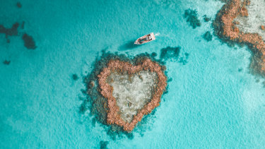 The iconic Heart Island is one of the drawcards of the Great Barrier Reef.