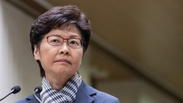 Carrie Lam has warned protesters at a press conference in Hong Kong that violence would not help achieve their goals.