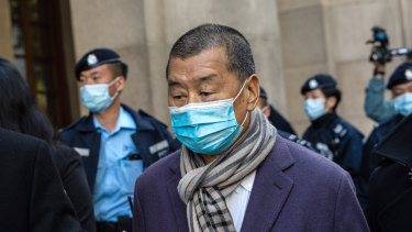 Jimmy Lai leaves the Court of Final Appeal on December 31.