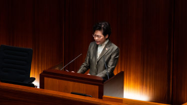 Hong Kong Chief Executive Carrie Lam vows to restore the city's international reputation.