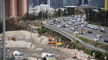 The government will consider selling its remaining share in the WestConnex motorway, which is still under construction.