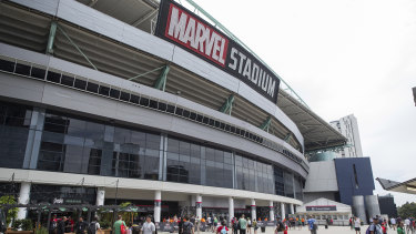 The AFL and the City of Melbourne have confirmed flammable cladding was found on the exterior of Marvel Stadium late last year.