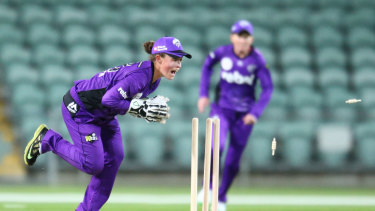 Banned Hurricanes wicketkeeper Emily Smith.