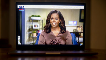 """Michelle Obama said she found the state of the US today """"downright infuriating""""."""